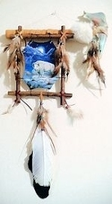 Jaw Tomahawk with White Buffalo Picture Wall Hanging