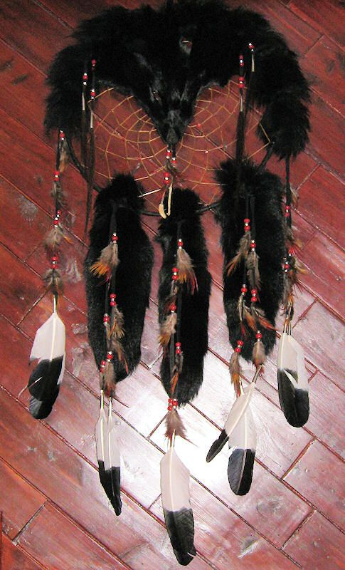 Black Fox Dreamcatcher Medicine Shield