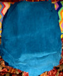 7.7 Sq Ft Dark Turquoise Suede Leather