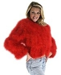 Red Maribou Feather Jacket
