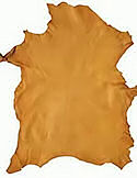 7.3 Sq Ft Saddle Tan Deerskin Leather