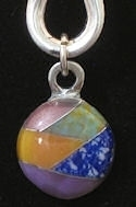 stone pendant necklace #048C